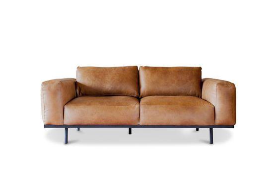 Mandel Sofa in braunem Leder ohne jede Grenze