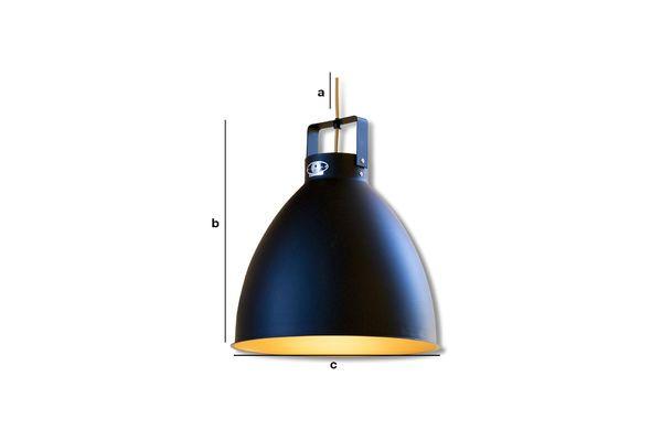 Produktdimensionen Matt - schwarze Hängeleuchten Jieldé Augustin