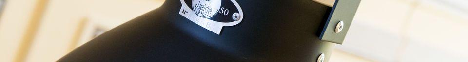Materialbeschreibung Matt - schwarze Hängeleuchten Jieldé Augustin
