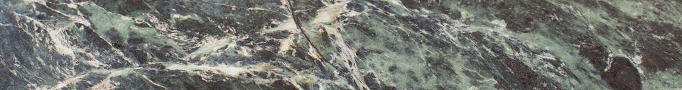 Materialbeschreibung Maybury Stativtisch aus grünem Marmor