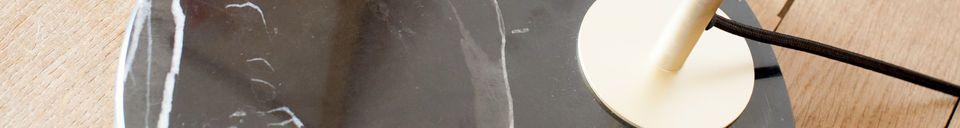 Materialbeschreibung Messing und Marmor Leseleuchte Mogens
