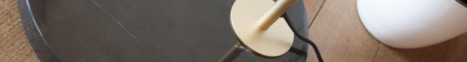 Materialbeschreibung Messing und Marmor Stehleuchte Mogens