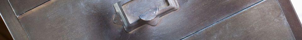 Materialbeschreibung Metall Aktenschrank mit 8 Schubladen Telex