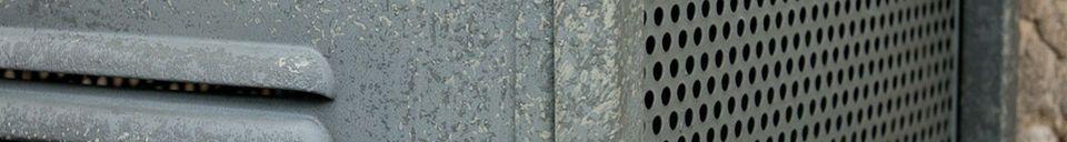 Materialbeschreibung Metall-Hochschrank mit 4 Schubladen