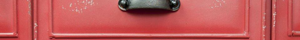 Materialbeschreibung Metallkommode Brighton