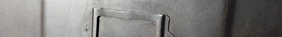 Materialbeschreibung Metallkommode mit 5 Fächern
