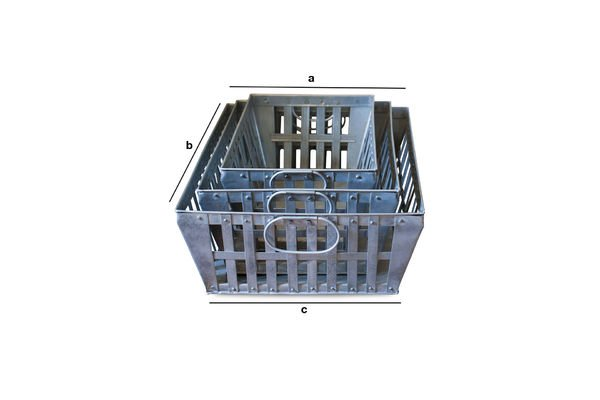 Produktdimensionen Metallkörbe im Dreier-Set