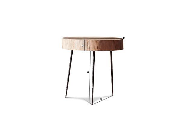 natural luka baumstamm beistelltisch rund zirkulation pib. Black Bedroom Furniture Sets. Home Design Ideas