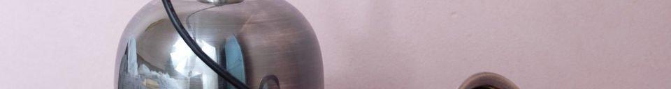 Materialbeschreibung Nickel-Deckenleuchte Ogive