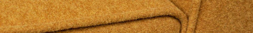 Materialbeschreibung Ockerfarbener Filzsessel Alborg