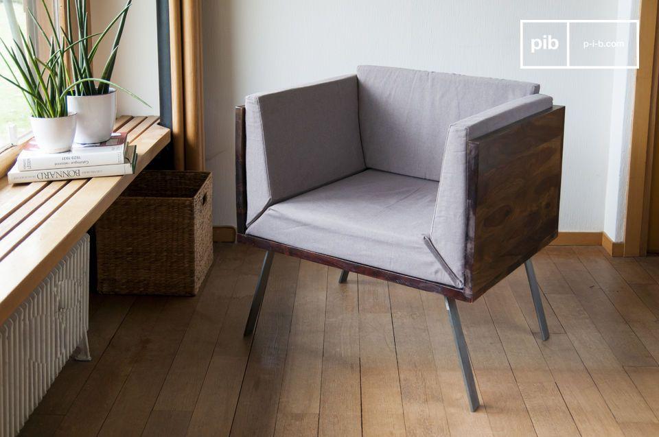 Ein origineller, kompakter und eleganter Sessel