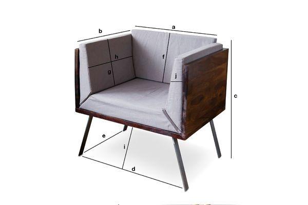 Produktdimensionen Odeon Lounge Sessel