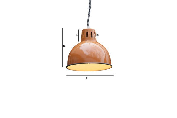 Produktdimensionen Orange Lampe Snöl