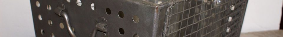 Materialbeschreibung Panier métallique grillagé