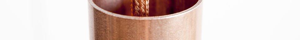 Materialbeschreibung Pendelleuchte NUD Copper