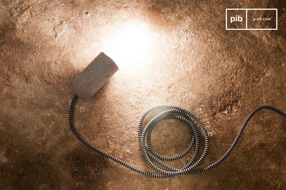 Die Leuchte NUD Zement kann alleine