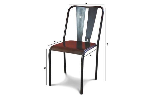 Produktdimensionen Propriano Stuhl