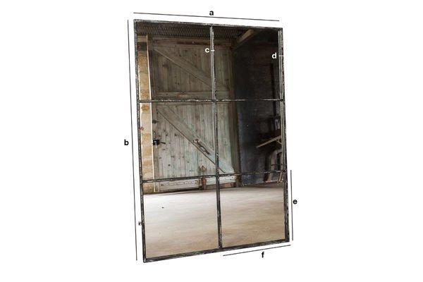 Produktdimensionen Quadratischer 6-teiliger Spiegel 120x80