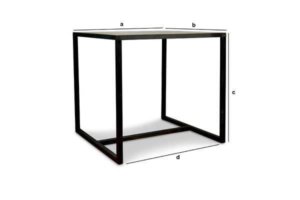Produktdimensionen Quadratischer Manhattan Tisch