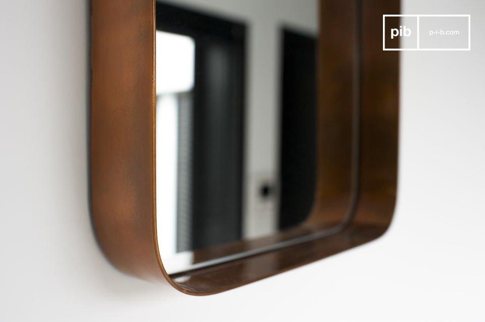 Die quadratische Version dieses Spiegels im skandinavischen Stil