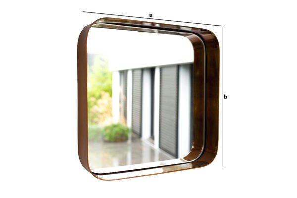 Produktdimensionen Quadratischer Spiegel Lena