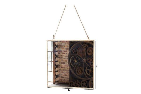Produktdimensionen Quadratischer Spiegel Solliès-Pont Vergoldet