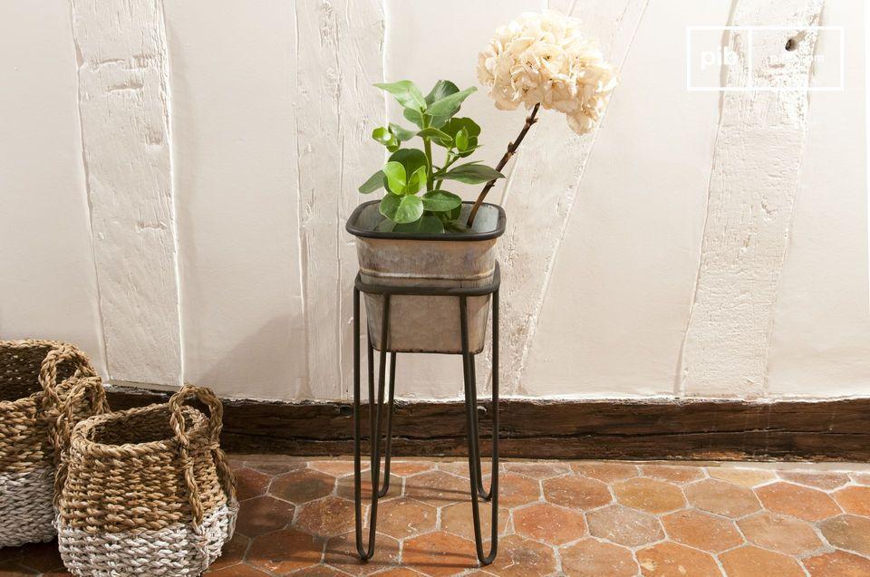 Elegante Pflanzendecke im Vintage-Stil