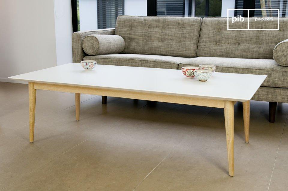 rechteckiger couchtisch fjord linien der 50er jahre pib. Black Bedroom Furniture Sets. Home Design Ideas