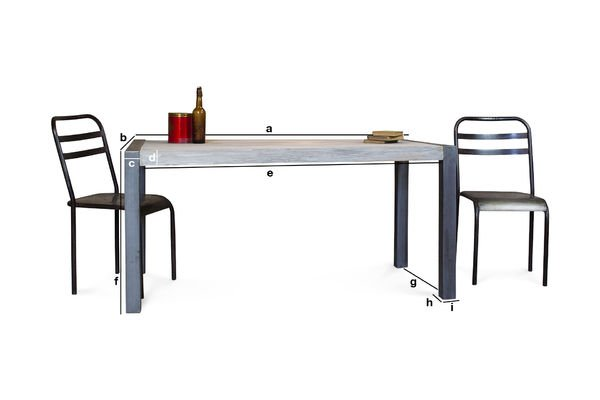 Produktdimensionen Recycelter Tisch aus Teakholz