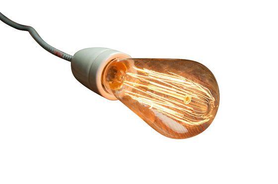 Retro-Glühbirne mit langem Glühfaden ohne jede Grenze