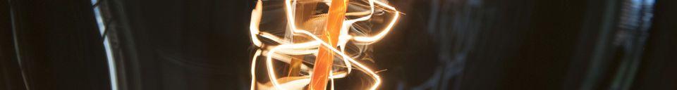 Materialbeschreibung Riesen Glühbirne mit langem Faden