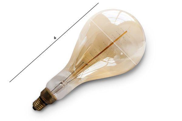 Produktdimensionen Riesen Glühbirne mit langem Faden