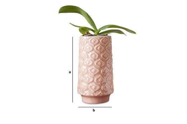 Produktdimensionen Rosa Keramikvase Aurora