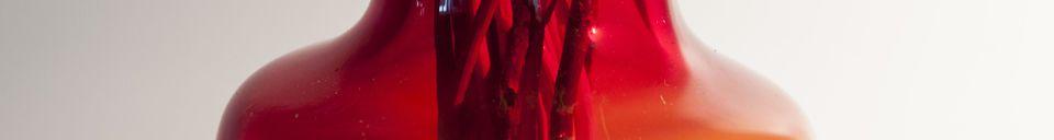 Materialbeschreibung Rote Glasvase Bobby