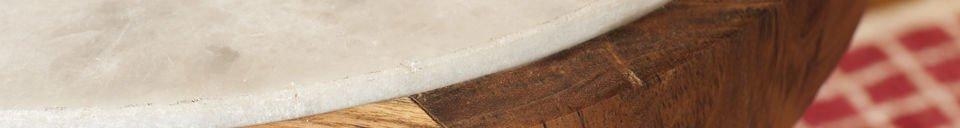 Materialbeschreibung Runder Beistelltisch Marmori