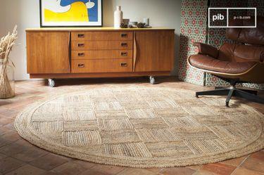 Runder Teppich Williams aus Jute