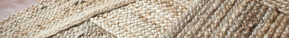 Materialbeschreibung Runder Teppich Williams aus Jute
