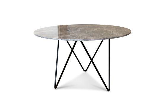 Runder Tisch aus schwarzem Marmor Grimaud ohne jede Grenze