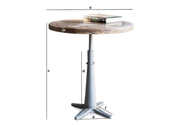 Produktdimensionen Runder Tisch Merritt