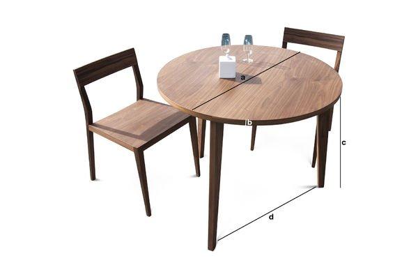 Produktdimensionen Runder Tisch Nöten