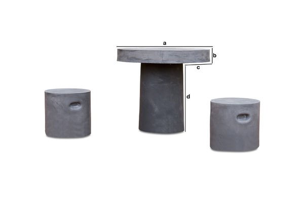 Produktdimensionen Runder Tisch Smaton