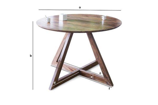 Produktdimensionen Runder Tisch Starbase
