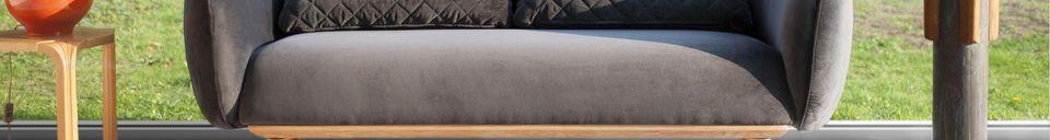 Materialbeschreibung Rundes 3-sitzer Sofa Olson