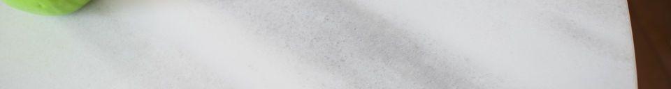 Materialbeschreibung Rundtisch aus weißem Marmor Lemvig