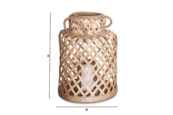 Produktdimensionen Saïgon Bambus Laterne