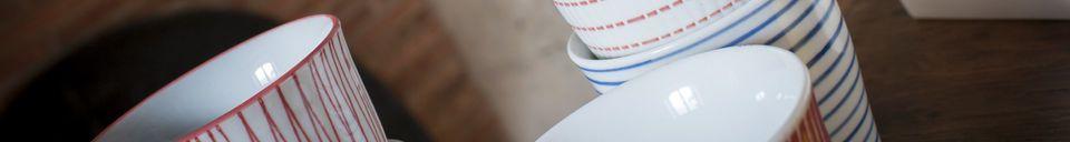 Materialbeschreibung Satz aus 6 Porzellantassen Grite