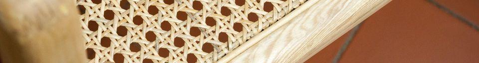 Materialbeschreibung Schaukelstuhl aus Rohrstock Akse