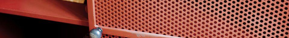Materialbeschreibung Schrank Minoterie Rot