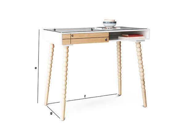 Produktdimensionen Schreibtisch mit Katalina Schubläden