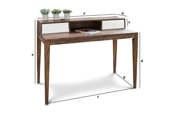 Produktdimensionen Schreibtisch Naröd